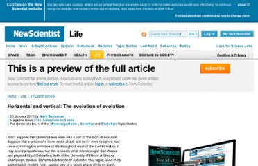 http://www.newscientist.com/article/mg20527441.500-horizontal-and-vertical-the-evolution-of-evolution.html