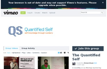 http://vimeo.com/groups/quantifiedself