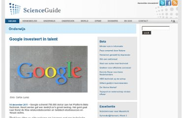 http://www.scienceguide.nl/201112/google-investeert-in-talent.aspx