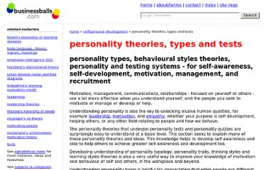 http://www.businessballs.com/personalitystylesmodels.htm#belbin%20team%20roles%20descriptions