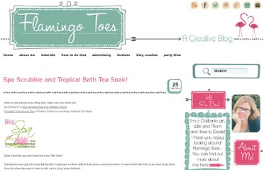 http://www.flamingotoes.com/2011/01/spa-scrubbie-and-bath-tea-soak/