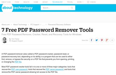 http://pcsupport.about.com/od/toolsofthetrade/tp/pdf-password-remover.htm