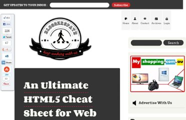 http://bloggerspath.com/ultimate-html5-cheat-sheet-for-web-developers/