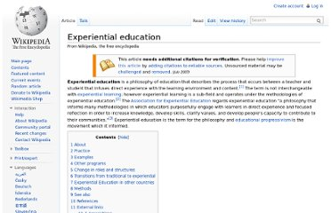 http://en.wikipedia.org/wiki/Experiential_education