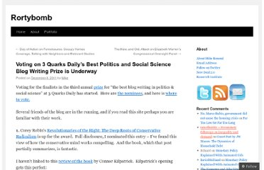 http://rortybomb.wordpress.com/2011/12/08/voting-on-3-quarks-dailys-best-politics-and-social-science-blog-writing-prize-is-underway/