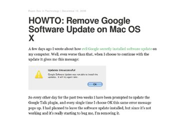 http://raamdev.com/2008/howto-remove-google-software-update-on-mac-os-x/
