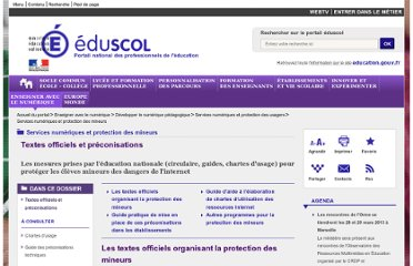 http://eduscol.education.fr/cid57087/securite.html