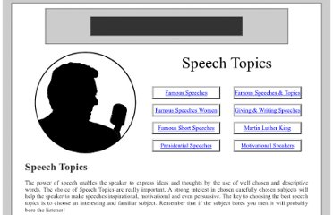 interesting topics for informative speech