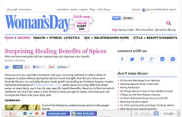 http://www.womansday.com/food-recipes/cooking-tips-shortcuts/surprising-healing-benefits-of-spices-107253