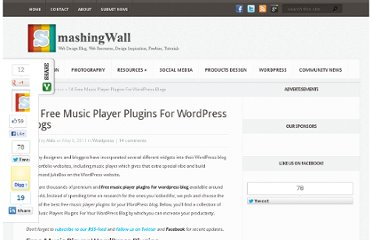 http://smashingwall.com/wordpress/free-music-player-plugins/