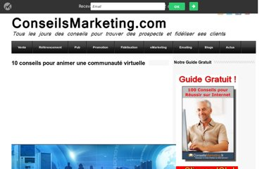 http://www.conseilsmarketing.com/e-marketing/10-conseils-pour-animer-une-communaute-virtuelle