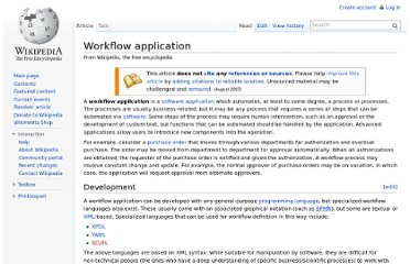 http://en.wikipedia.org/wiki/Workflow_application