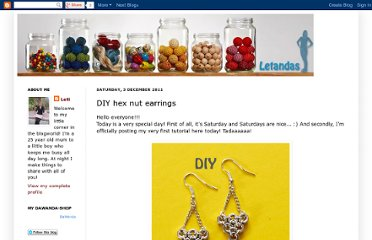 http://letandas.blogspot.com/2011/12/diy-hex-nut-earrings.html