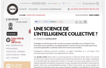 http://owni.fr/2010/02/05/une-science-de-l%e2%80%99intelligence-collective/