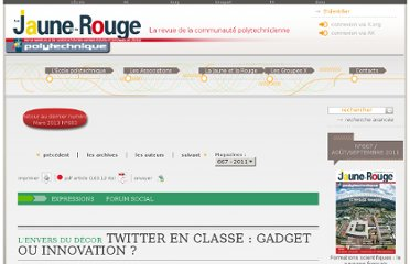 http://www.lajauneetlarouge.com/article/twitter-en-classe-gadget-ou-innovation