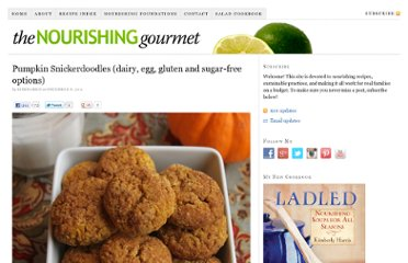 http://www.thenourishinggourmet.com/2011/12/pumpkin-snickerdoodles-dairy-egg-gluten-and-sugar-free-options.html
