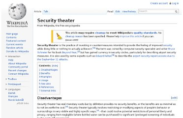 http://en.wikipedia.org/wiki/Security_theater