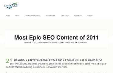 http://skyrocketseo.co.uk/epic-seo-stuff-2011/