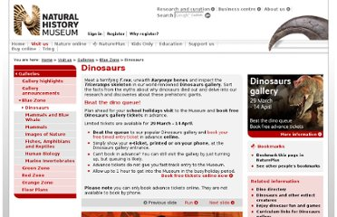 http://www.nhm.ac.uk/visit-us/galleries/blue-zone/dinosaurs/index.html