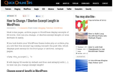 http://www.quickonlinetips.com/archives/2011/03/how-to-change-shorten-excerpt-length-in-wordpress/