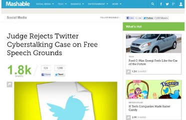 http://mashable.com/2011/12/16/stalking-on-twitter-protected-speech/