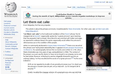 http://en.wikipedia.org/wiki/Let_them_eat_cake