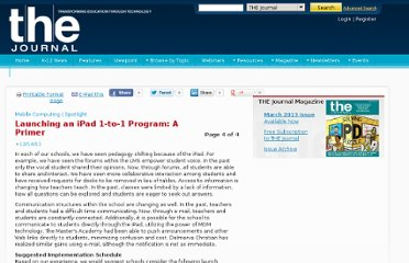 http://thejournal.com/Articles/2011/12/14/Launching-an-iPad-1-to-1-Program-A-Primer.aspx?Page=4