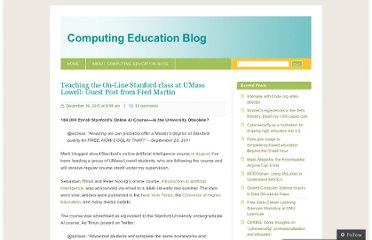 http://computinged.wordpress.com/2011/12/16/teaching-the-on-line-stanford-class-at-umass-lowell-guest-post-from-fred-martin/