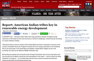 http://www.gmanetwork.com/news/story/186886/news/world/report-american-indian-tribes-key-in-renewable-energy-development