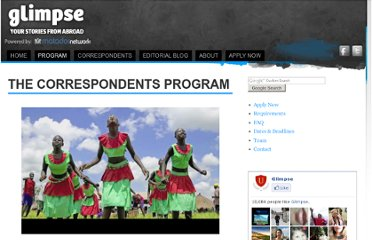 http://glimpse.org/the-correspondents-program/