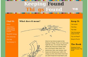 http://www.keepingfoundthingsfound.com/what-does-it-mean