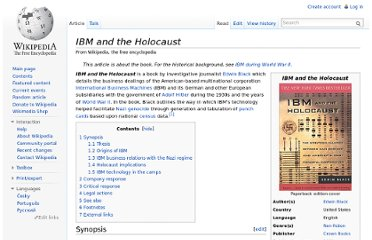 http://en.wikipedia.org/wiki/IBM_and_the_Holocaust