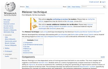 http://en.wikipedia.org/wiki/Meisner_technique