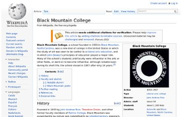 http://en.wikipedia.org/wiki/Black_Mountain_College