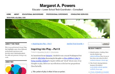 http://margaret-powers.com/2011/12/16/inquiring-into-play-part-ii/