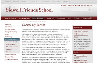 http://www.sidwell.edu/upper-school/community-service/index.aspx