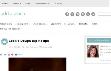 http://addapinch.com/cooking/2011/10/14/cookie-dough-dip-recipe/