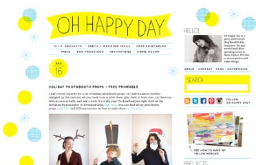 http://ohhappyday.com/2011/12/holiday-photobooth-props-free-printable/