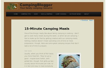 http://www.campingblogger.net/camp-cooking/15-minute-camping-meals.html