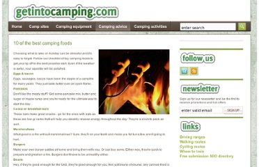http://www.getintocamping.com/camping-advice/10-of-the-best-camping-foods/