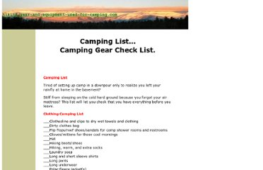 http://www.hiking-gear-and-equipment-used-for-camping.com/camping-list.html