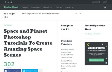 http://www.designshard.com/video-tutorials/space-and-planet-photoshop-tutorials-to-create-amazing-space-scenes/