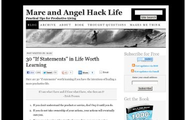 http://www.marcandangel.com/2007/10/17/30-if-statements-in-life-worth-learning/