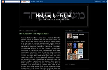 http://mishkan-ha-echad.blogspot.com/2008/08/purpose-of-magical-motto.html