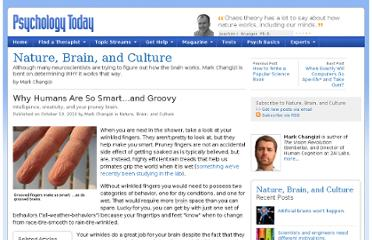 http://www.psychologytoday.com/blog/nature-brain-and-culture/201010/why-humans-are-so-smart-and-groovy