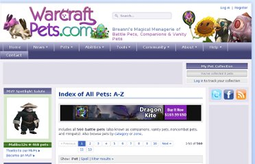 http://www.warcraftpets.com/wow-pets/index/