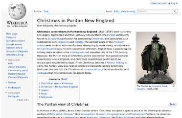 http://en.wikipedia.org/wiki/Christmas_in_Puritan_New_England