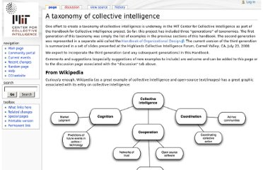 http://scripts.mit.edu/~cci/HCI/index.php?title=A_taxonomy_of_collective_intelligence