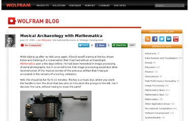 http://blog.wolfram.com/2009/06/23/musical-archaeology-with-mathematica/