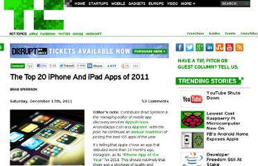 http://techcrunch.com/2011/12/17/the-top-20-best-iphone-and-ipad-apps-of-2011/